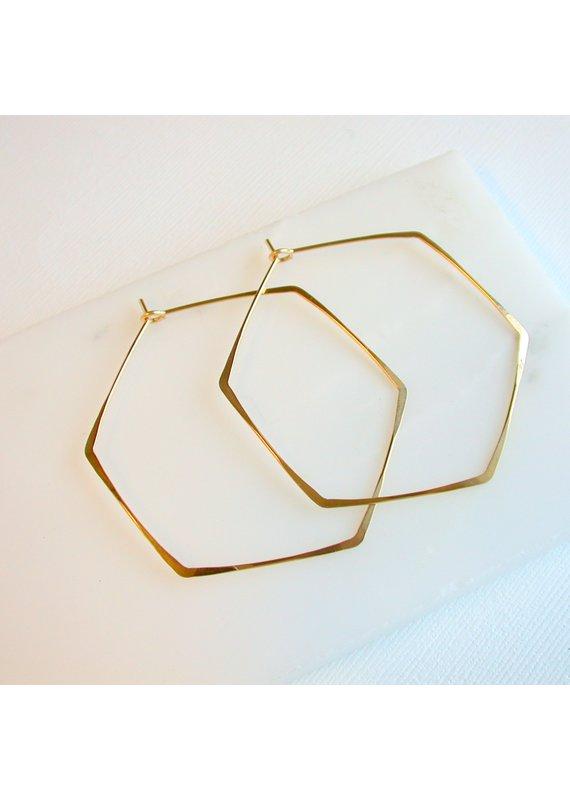 Linda Trent Gold Fill Small Hexagon Hoops