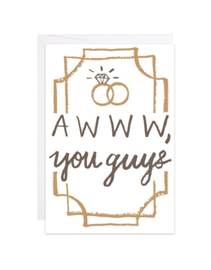 9th Letter Press Aww, You Guys Mini Card