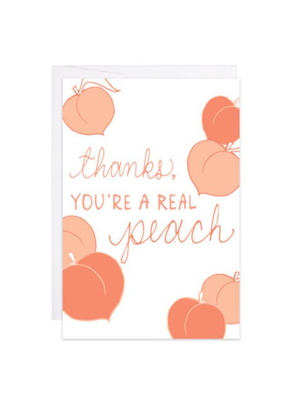 9th Letter Press Thanks, You're a Real Peach Mini Card