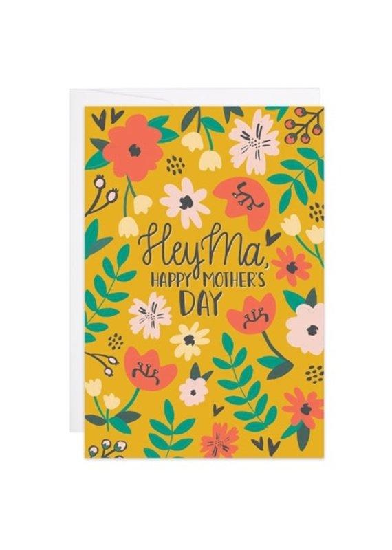 9th Letter Press Hey Ma Mini Card