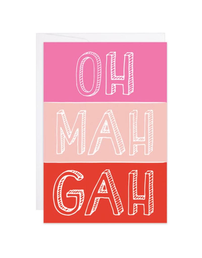 9th Letter Press Oh Mah Gah Mini Card