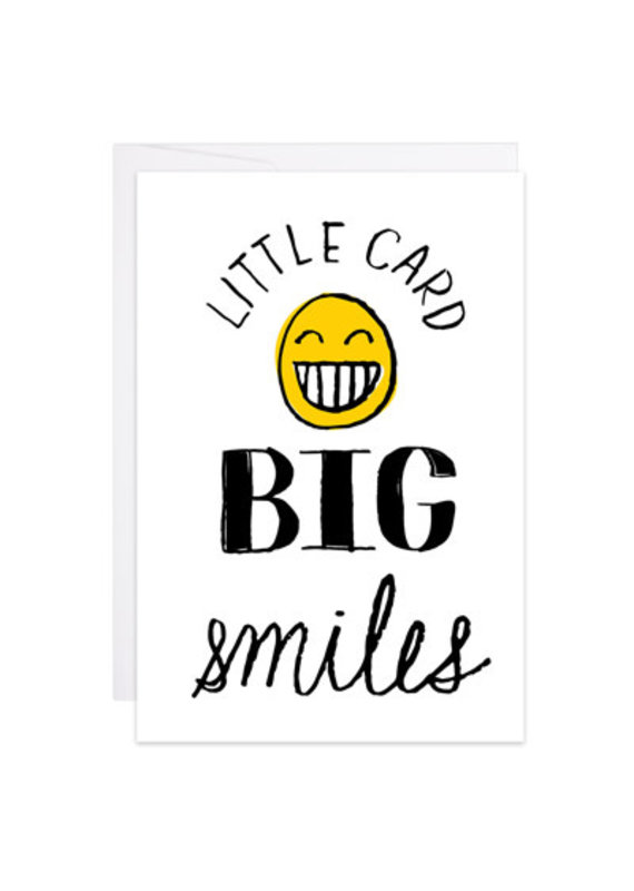 9th Letter Press Big Smiles Mini Card