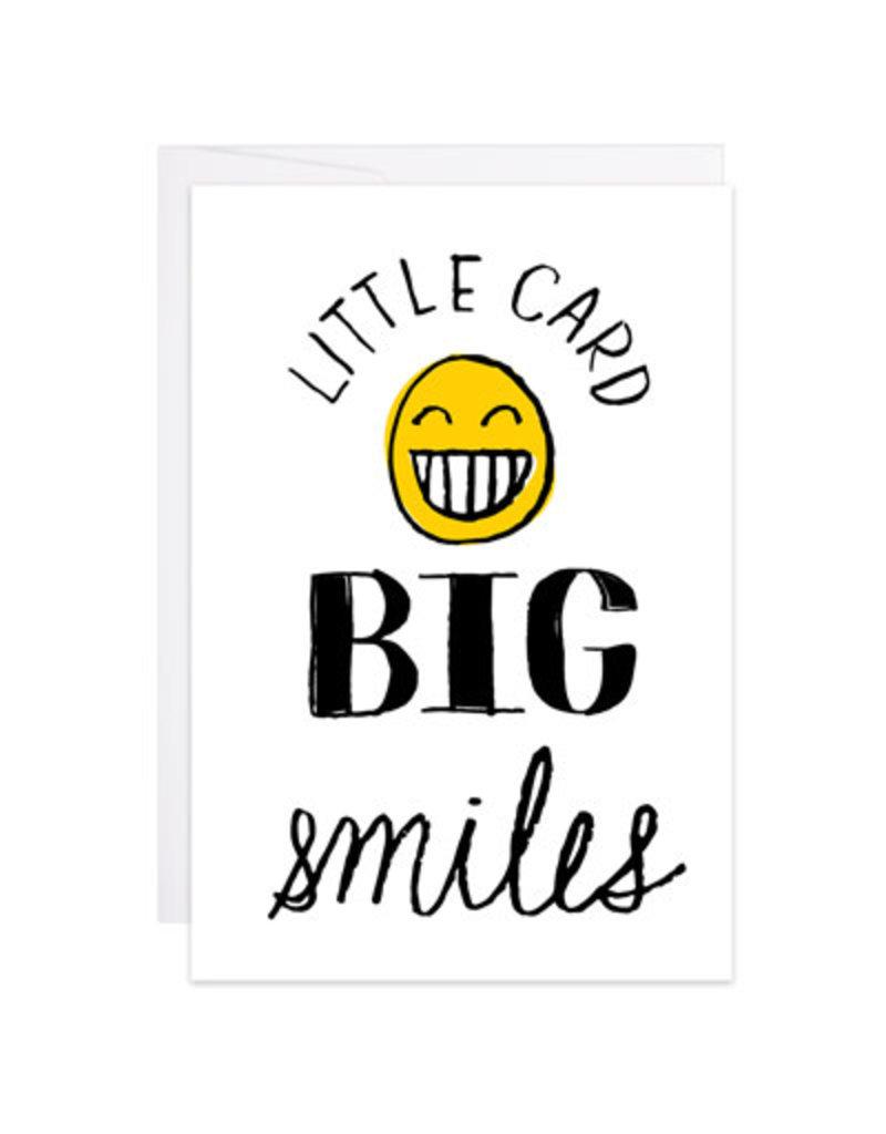9th Letter Press Big Smiles Mini Card