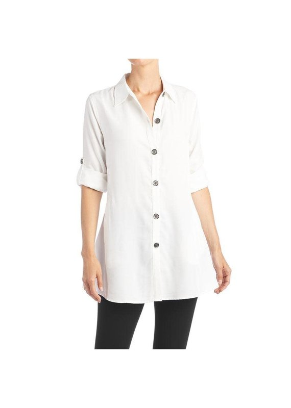 COCO + CARMEN White Piper Swing Tunic