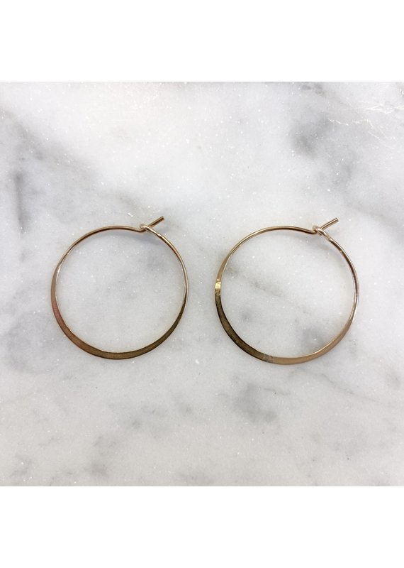 Linda Trent Gold Fill Classic Small Round Hoop