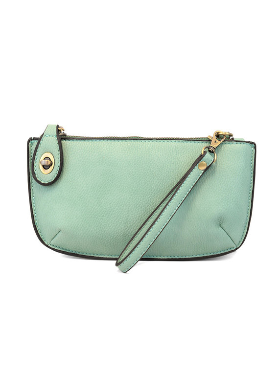 Joy Susan Seafoam Mini Crossbody Wristlet Clutch