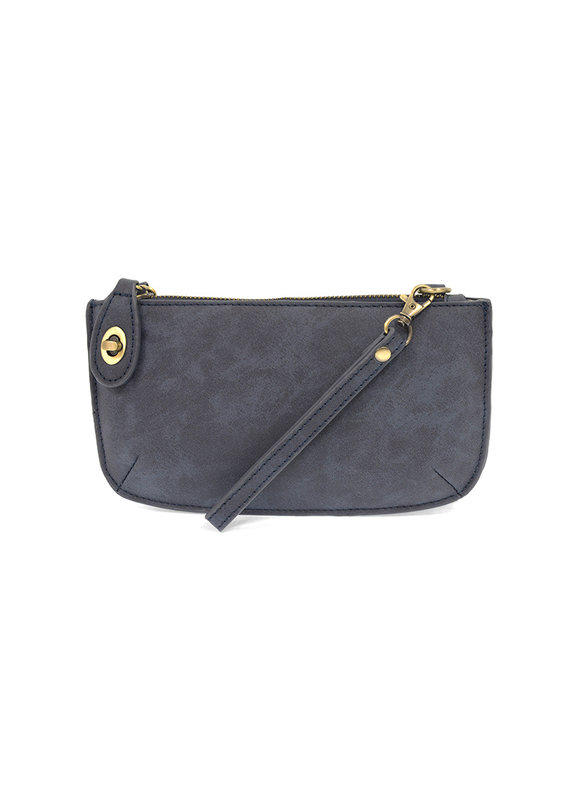 Joy Susan Midnight Blue Lux Crossbody Wristlet Clutch