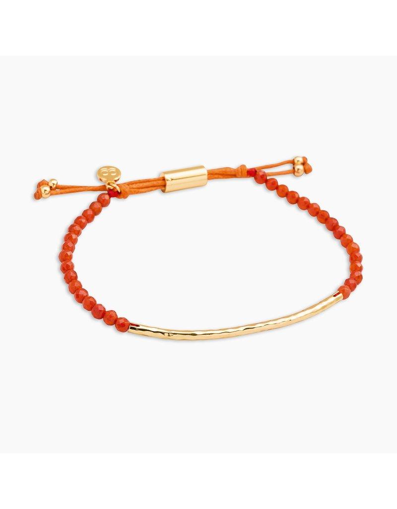 gorjana Power Orange Agate Gemstone Confidence Bracelet