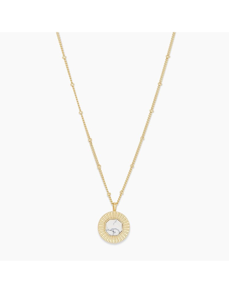 gorjana Power Howlite Gemstone Coin Calming Necklace