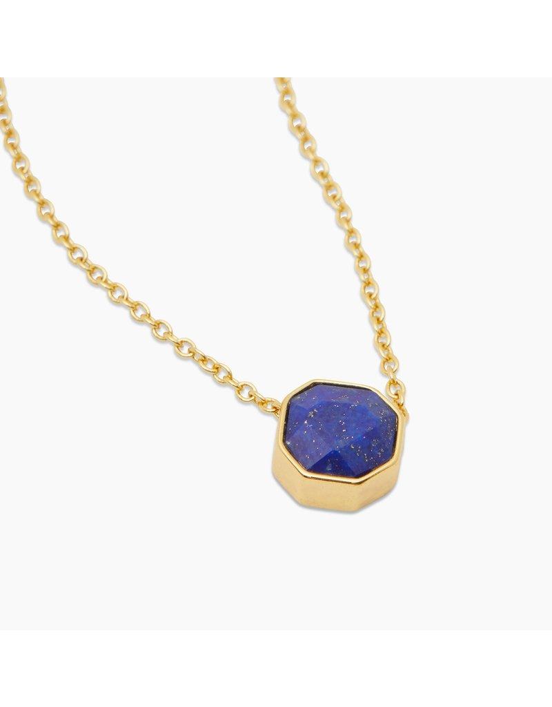 gorjana Power Lapis Gemstone Charm Wisdom Necklace