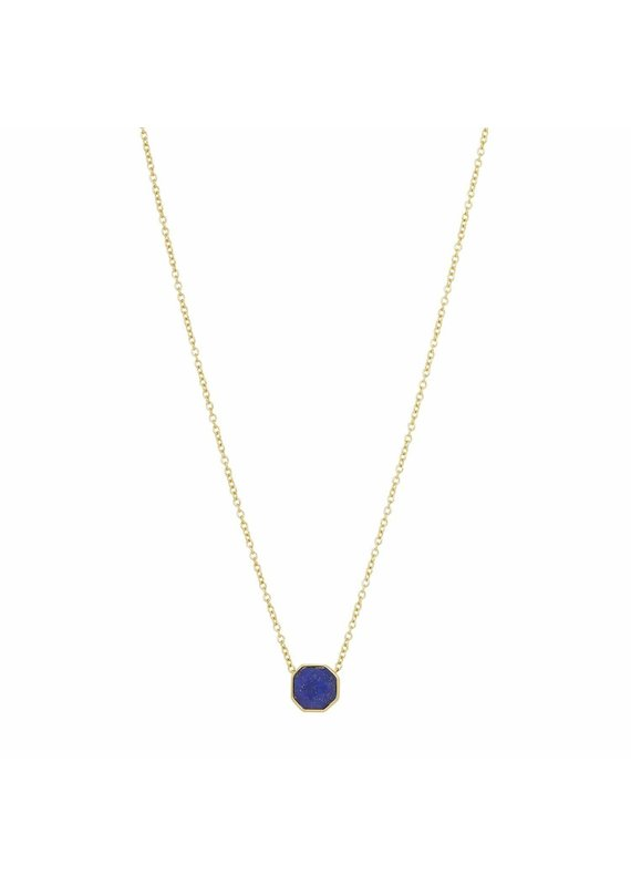 gorjana Power Lapis Gemstone Charm Wisdom Necklace
