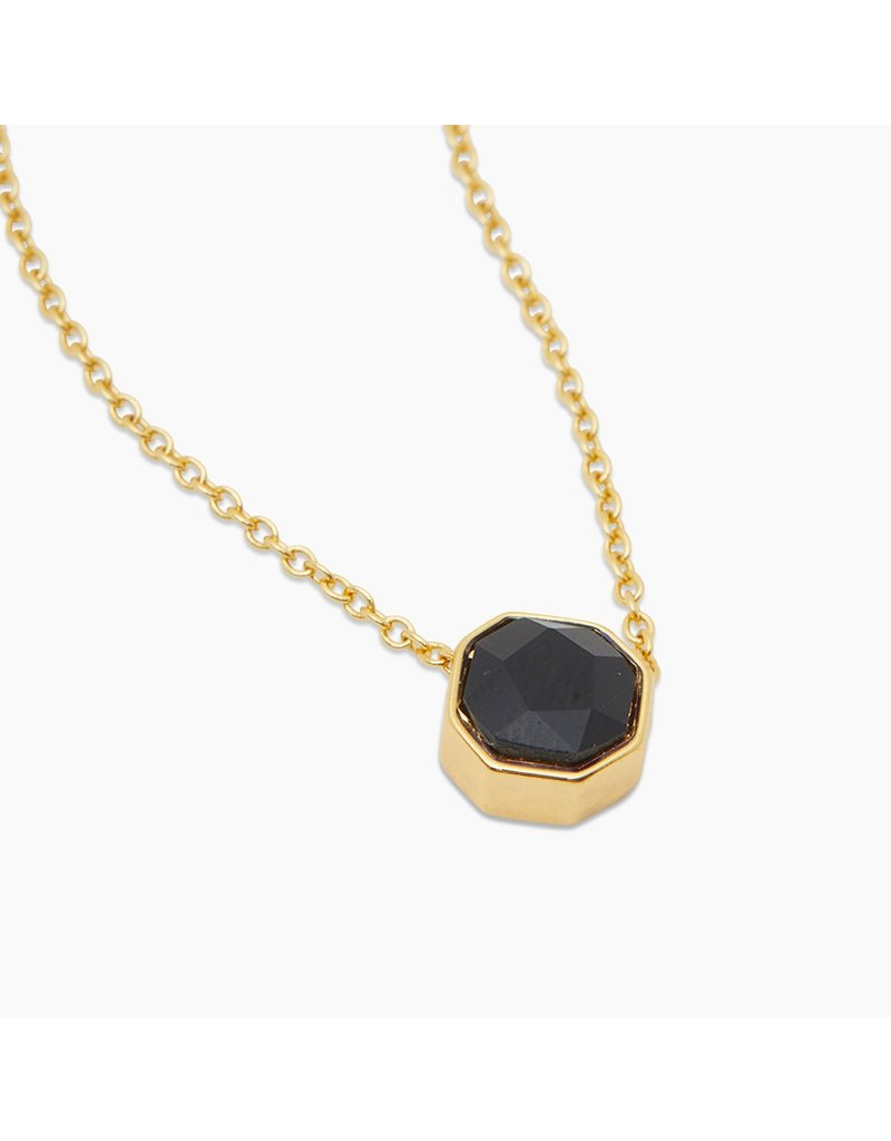 gorjana Power Black Onyx Gemstone Charm Protection Necklace