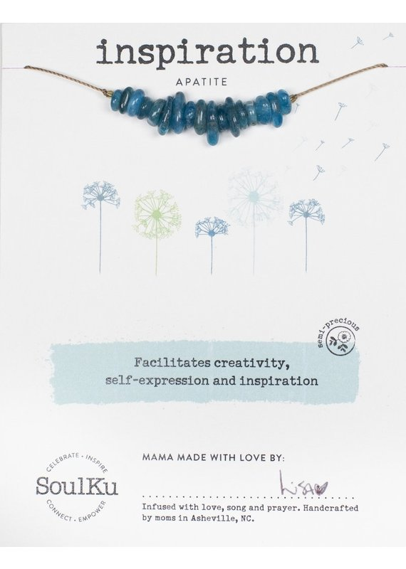 SoulKu Apatite Gemstone Seed Inspiration Necklace