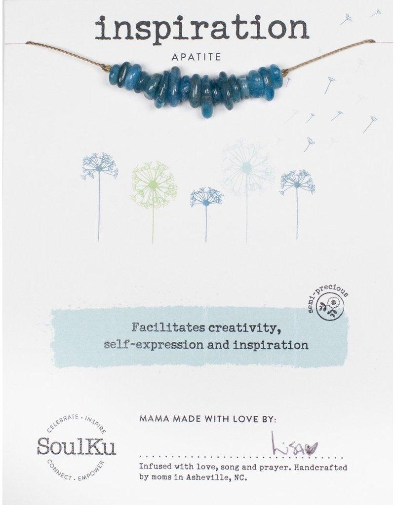 SoulKu Apatite Gemstone Seed Inspiration Necklace
