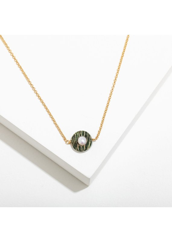 Larissa Loden Jane Necklace in Zebra Jasper