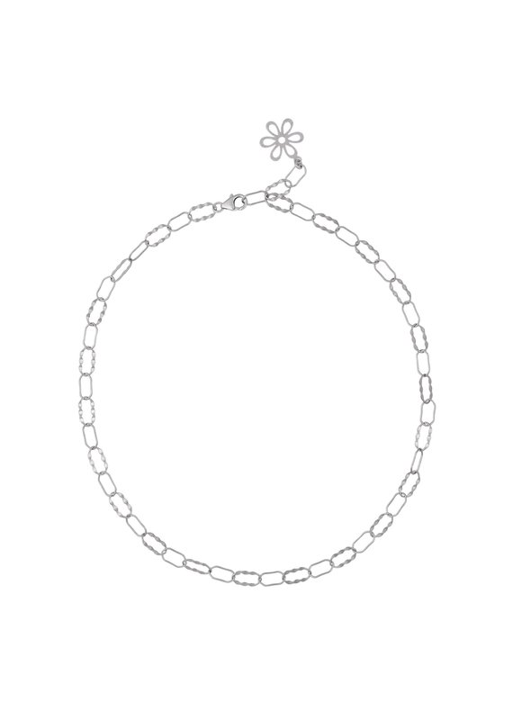 f.y.b jewelry Fleur Chain Necklace in Silver