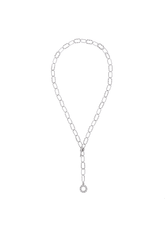 f.y.b jewelry Esme Chain Necklace in Silver