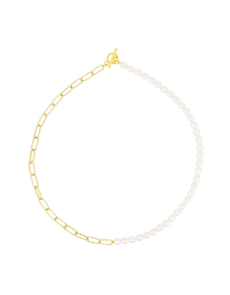 f.y.b jewelry Celeste Chain Pearl Necklace