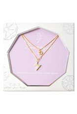 f.y.b jewelry Lily Powerful Layer Necklace in Gold