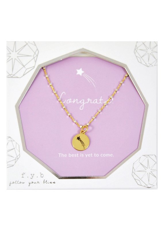 f.y.b jewelry Congrats Shimmer Charm Necklace