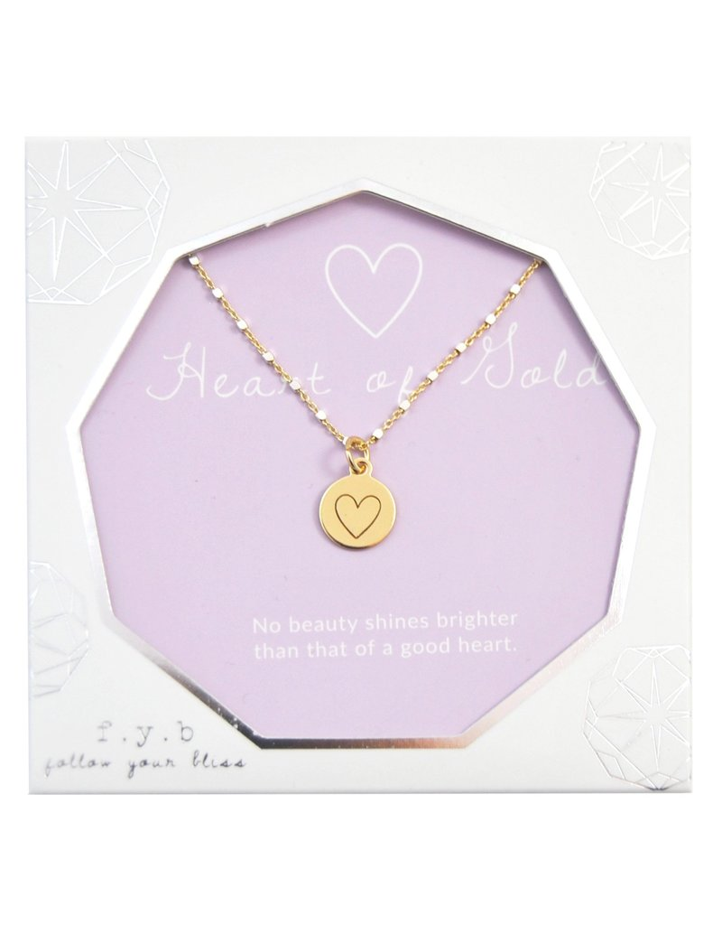 f.y.b jewelry Heart of Gold Shimmer Charm Necklace