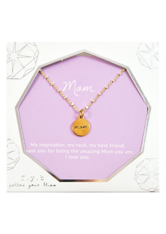 f.y.b jewelry Mom Shimmer Charm Necklace