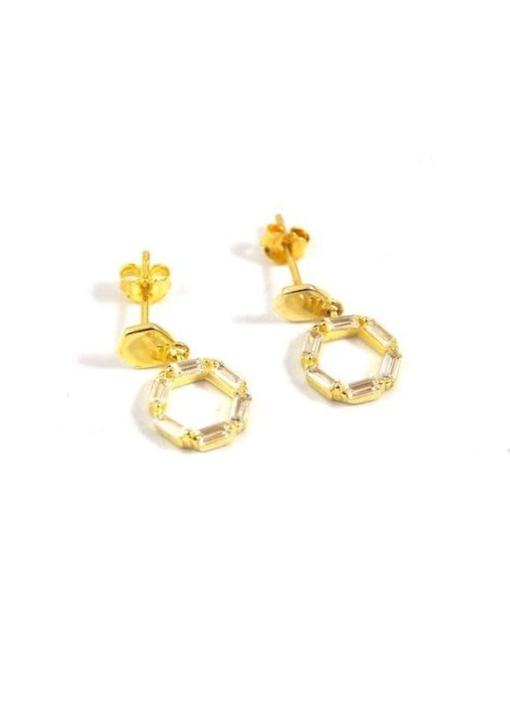 f.y.b jewelry Cecily Stud in Gold