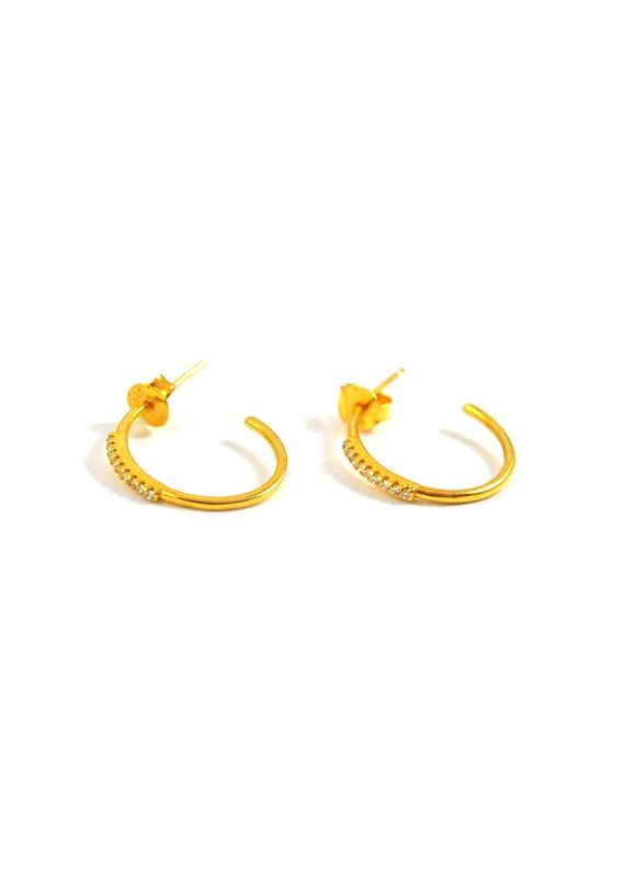 f.y.b jewelry Coco Hoops in Gold