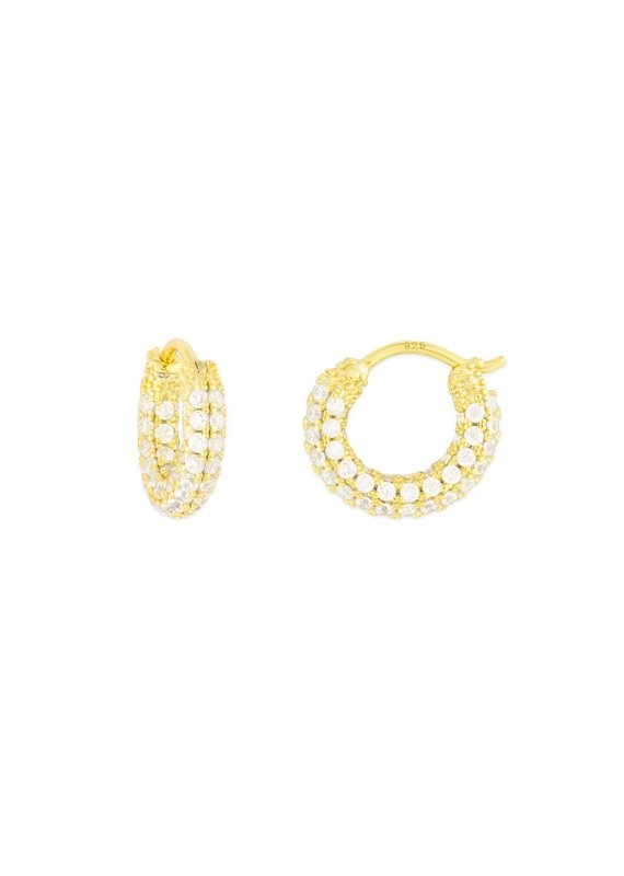 f.y.b jewelry Geni CZ Hoop in Gold