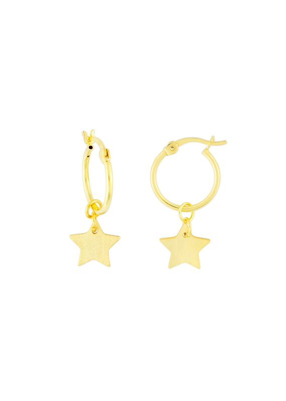 f.y.b jewelry Kaia Gold Star Hoops