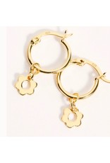 f.y.b jewelry Kaia Gold Flower Hoops
