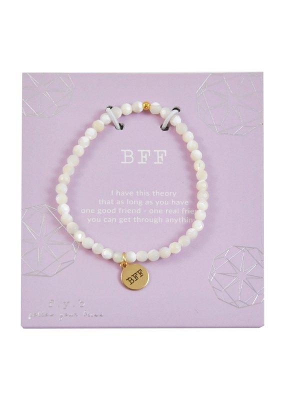 f.y.b jewelry Mother of Pearl BFF Charm Bracelet
