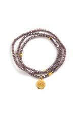f.y.b jewelry Purple Wildflower Crystal Wrap Bracelet