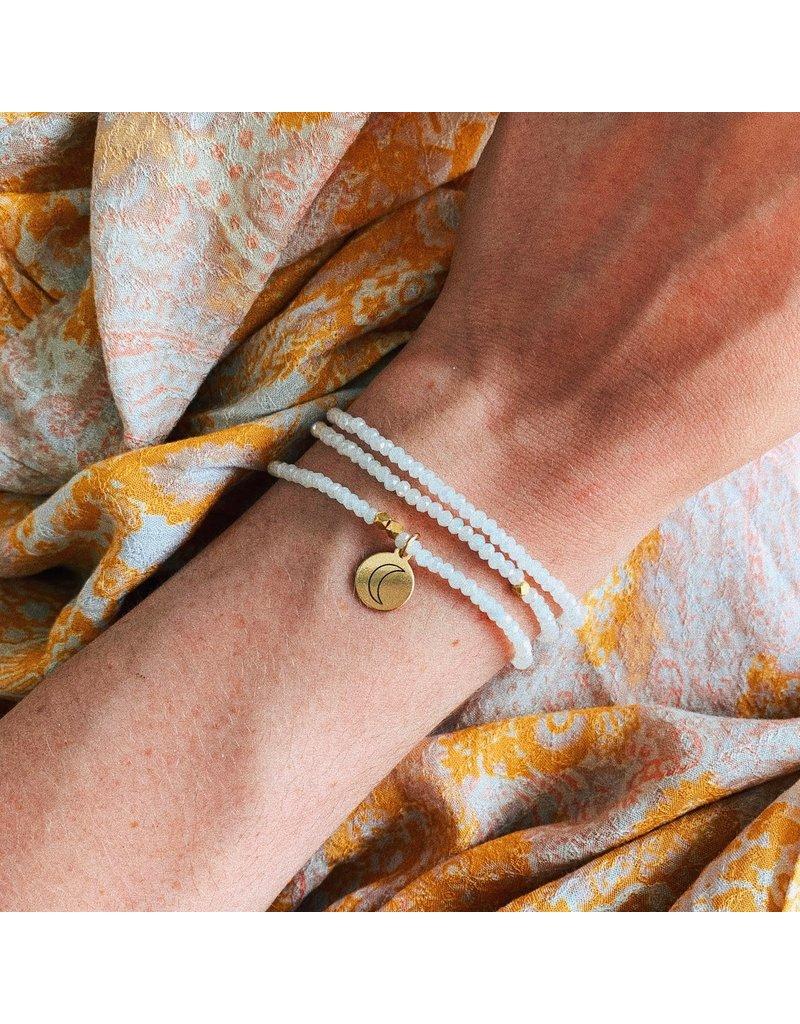f.y.b jewelry White Dreamer Crystal Wrap Bracelet