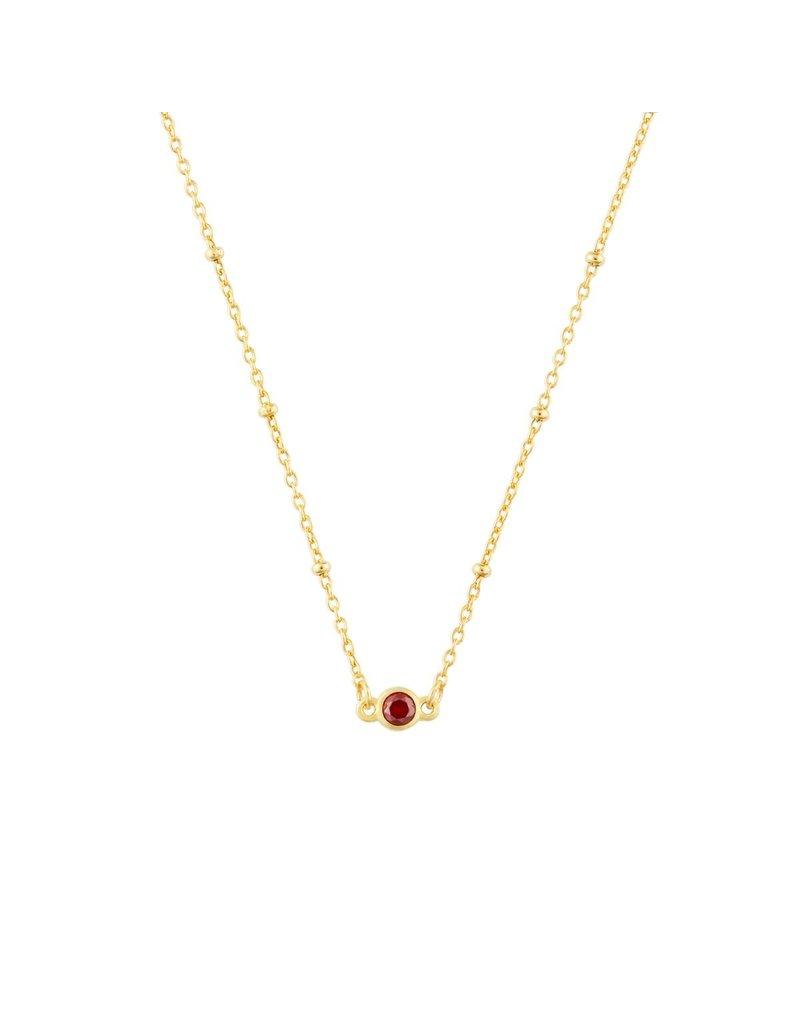 f.y.b jewelry Gold Dainty Birthstone Necklace
