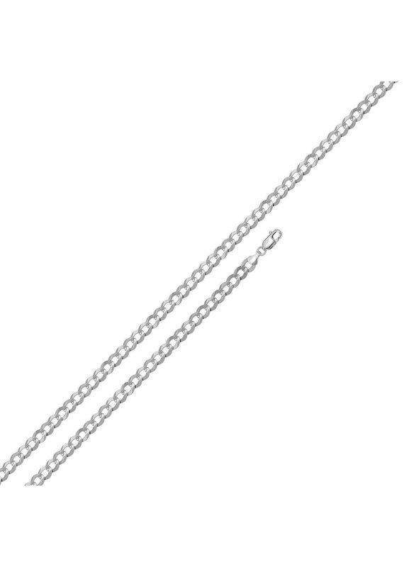 """Sterling Sterling 7"""" Curb Link Bracelet"""