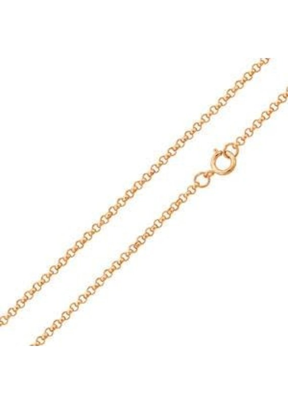 "Sterling Silver Rose Gold Plated 20"" Chain"