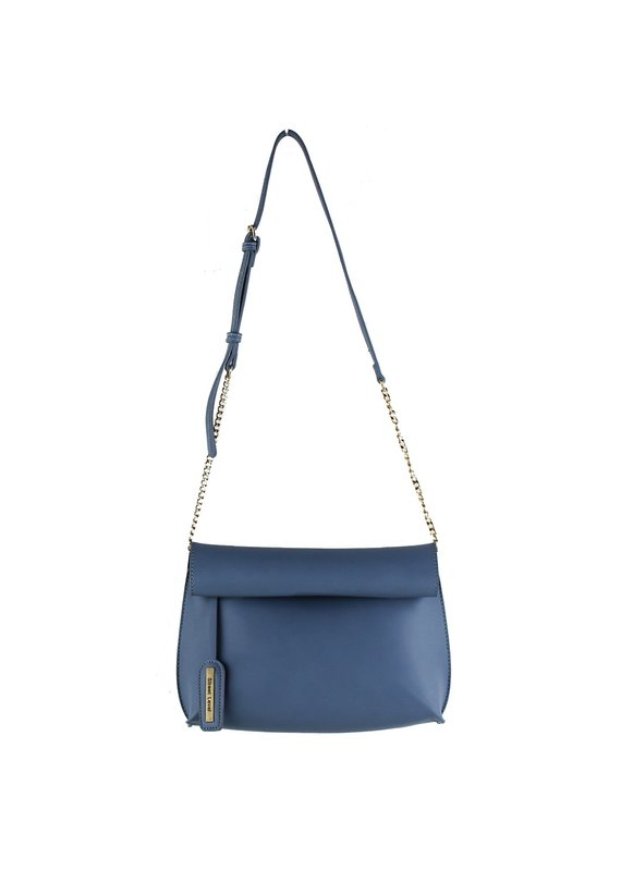 Street Level Handbags Blue Smooth Roll Reversible Clutch
