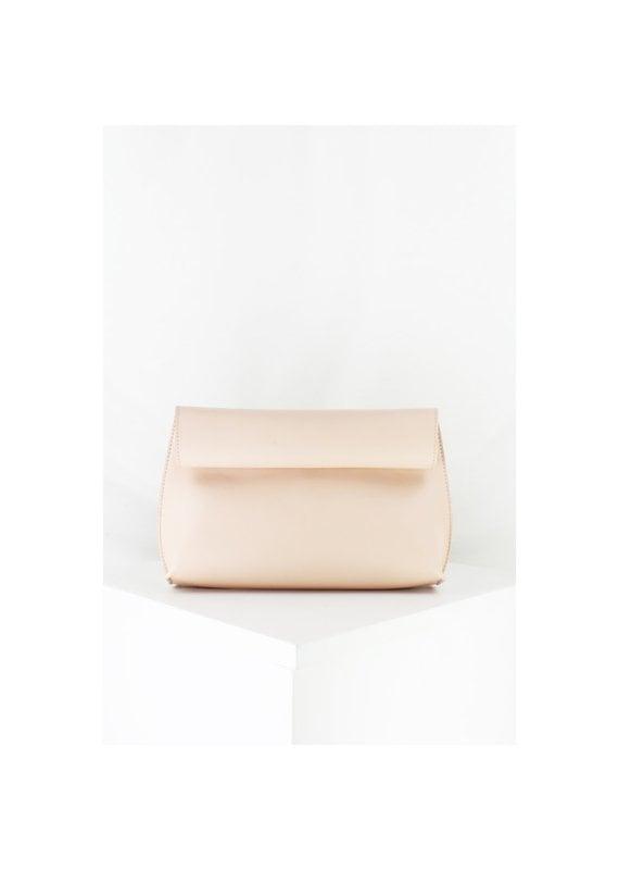 Street Level Handbags Blush Smooth Roll Reversible Clutch
