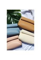 Street Level Handbags Tan Smooth Roll Reversible Clutch