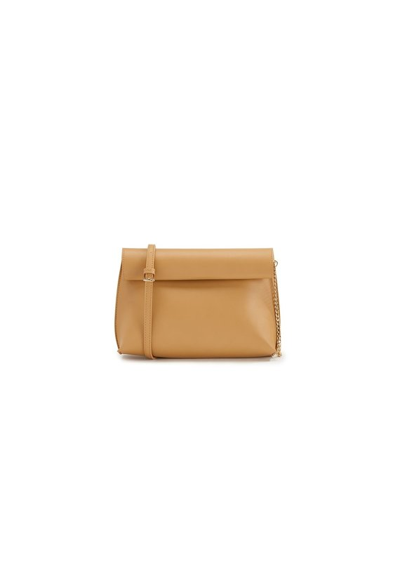 Street Level Handbags Tan Smooth Roll Reversible Clutch