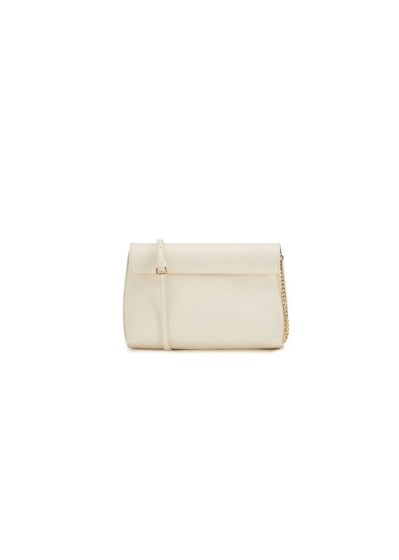 Street Level Handbags Ivory Smooth Roll Reversible Clutch