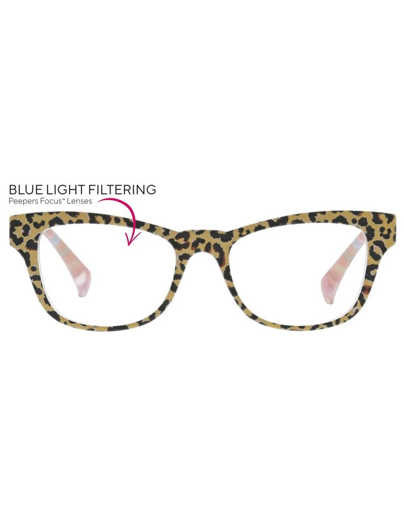Peepers Orchid Island Tan Leopard Floral
