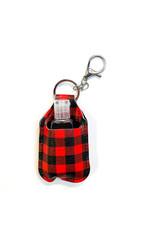 Lauren Rae Red Buffalo Plaid Hand Sanitizer Bottle Keychain