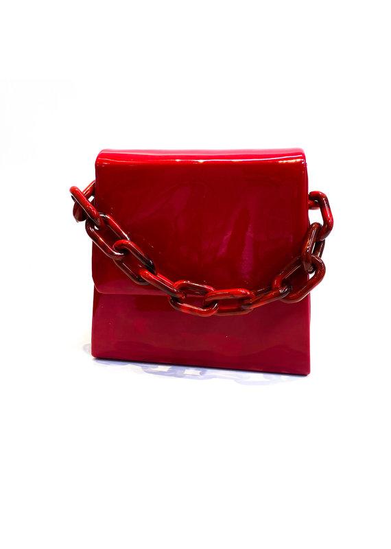 Lauren Rae Red Patent Handbag