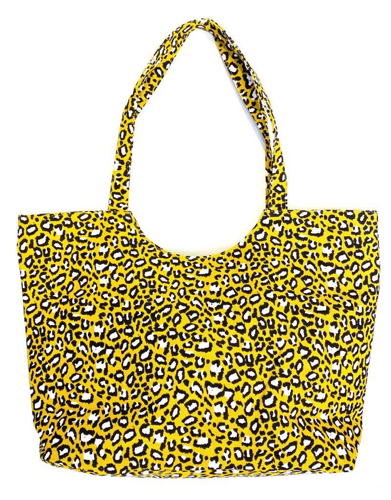 Lauren Rae Yellow Leopard Print Tote Bag