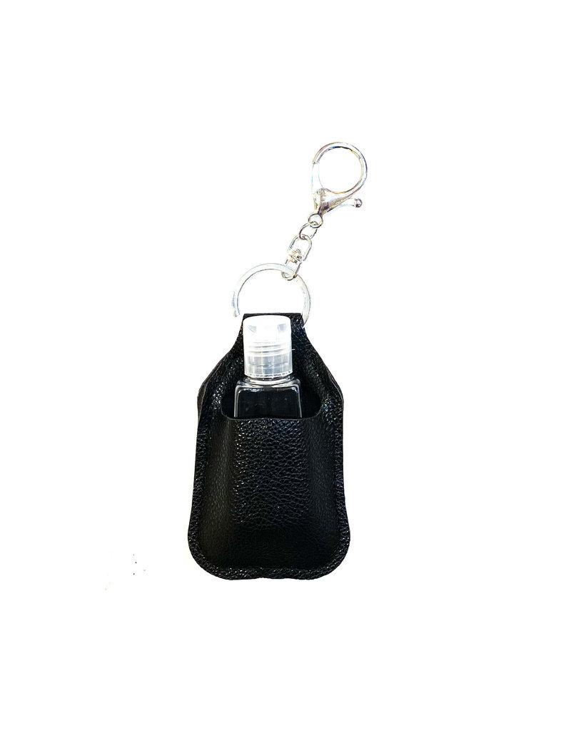 Lauren Rae Black Hand Sanitizer Bottle Keychain