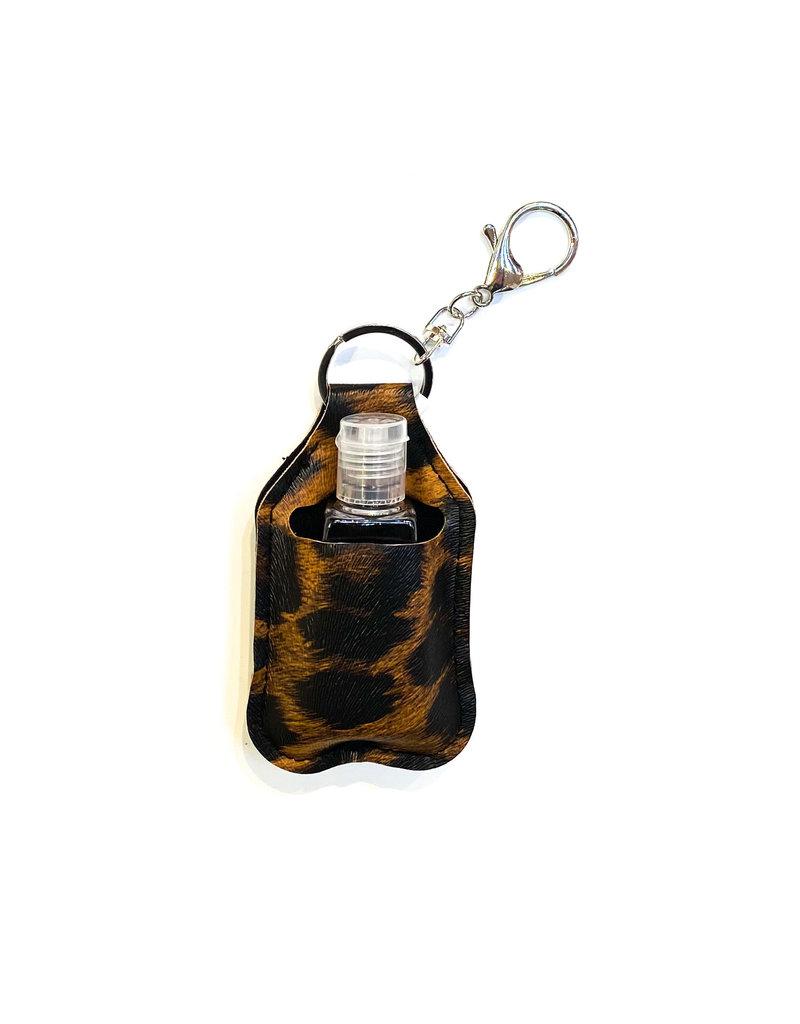 Lauren Rae Leopard Print Hand Sanitizer Bottle Keychain