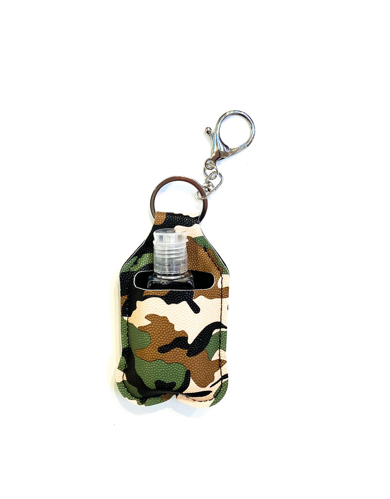 Lauren Rae Camo Hand Sanitizer Bottle Keychain