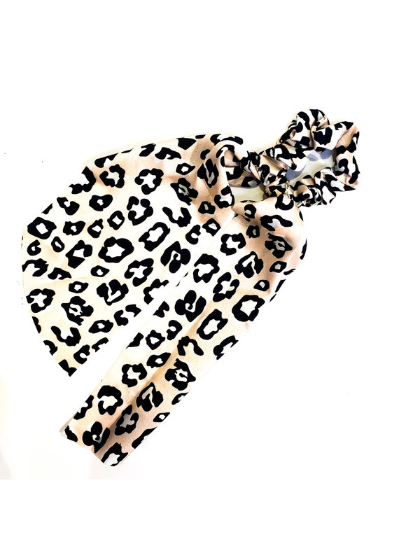 Lauren Rae Pink Cheetah Scrunchie Ribbon Tail